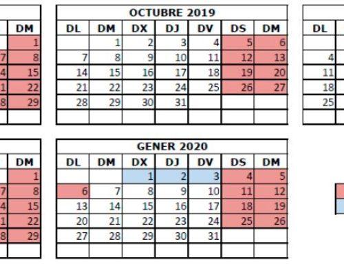 Calendari 1r trimestre